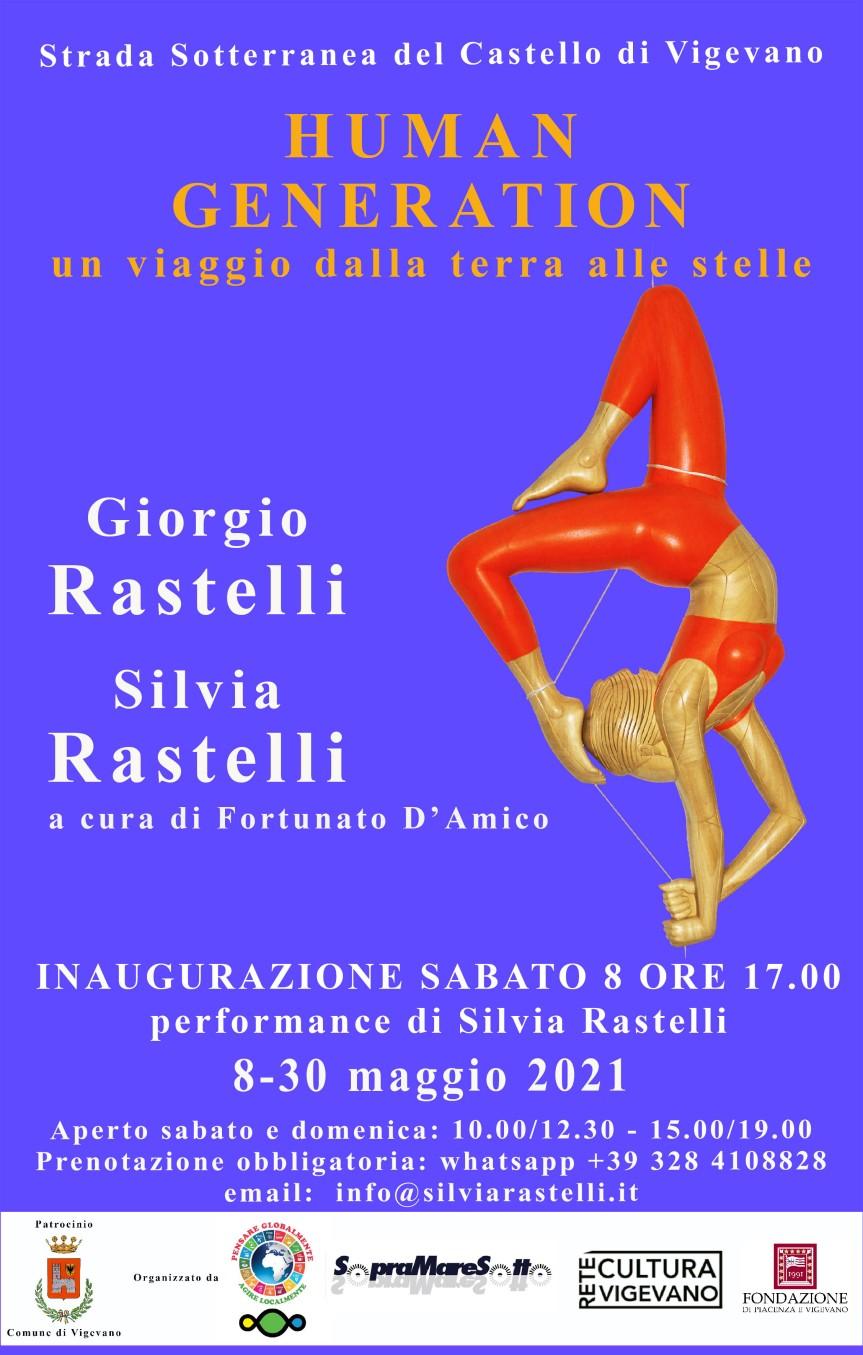 Giorgio e Silvia Rastelli.HUMAN GENERATION.Un viaggio dalla terra allestelle